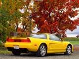 1991 Acura NSX Wallpaper Yellow-Rear Angle