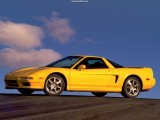 1991 Acura NSX Wallpaper Yellow-Side