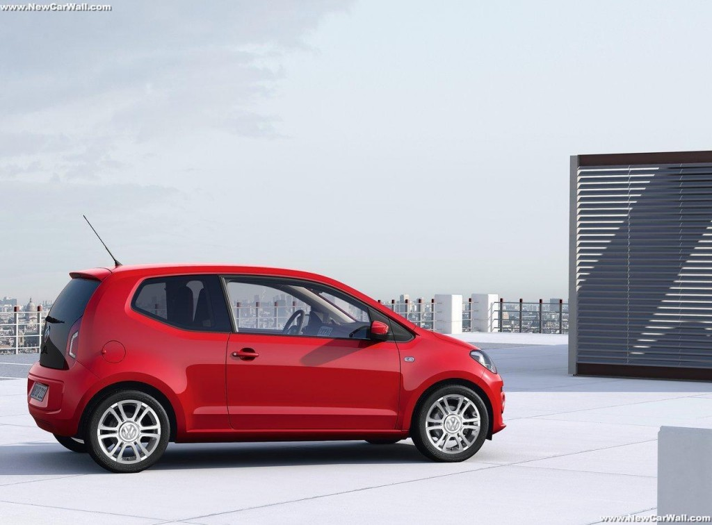 2013 Red Volkswagen Up Wallpaper