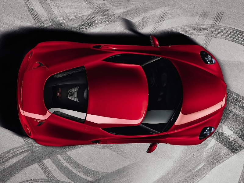 2014 Alfa Romeo 4C-Top View