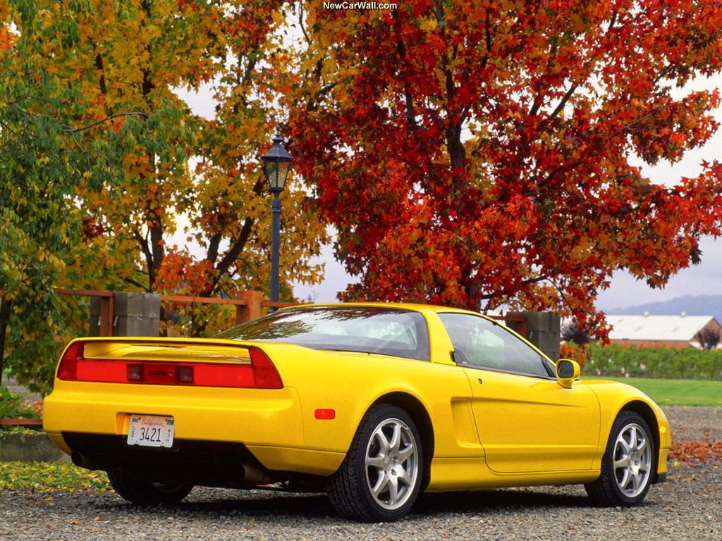 1991 Acura NSX Wallpaper Yellow-Rear Angle