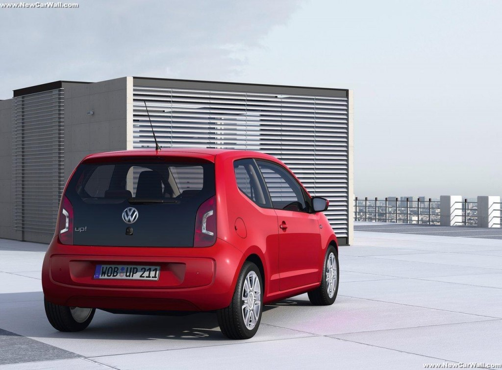2013 Volkswagen Up Wallpaper-Rear