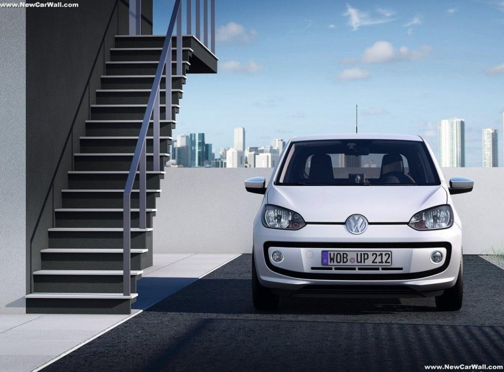 2013 White Volkswagen Up Wallpaper