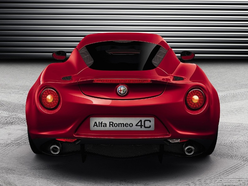 2014 Alfa Romeo 4C-Rear View
